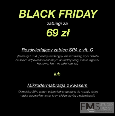 BLACK FRIDAY w EMS Studio Urody